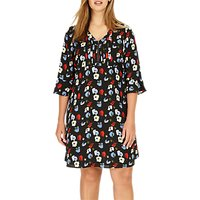 Studio 8 Andrea Floral Tunic Dress, Black/Multi