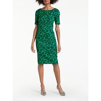 BodenBoden Fleur Fitted Dress, Pixie Green Shadow Floral