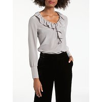 Boden Pascale Silk Blouse, Taupe