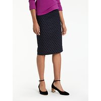 Boden Freya Pencil Skirt, Navy/Black