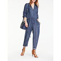 AND/OR Carly Jumpsuit, Mid Blue Wash