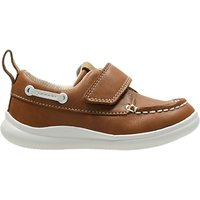 Clarks Childrens Cloud Snap First Shoes, Tan