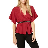 Damsel in a dress Embellished Blouse, Berry/Black