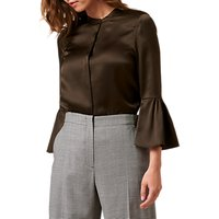 L.K. Bennett Silk Willow Bell Sleeve Blouse