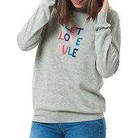 Sugarhill Boutique Rita Let Love Rule Jumper, Grey/Multi