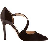 Karen Millen Asymmetric Strap Court Shoes, Black