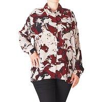 ADIA Printed Shirt, Red Merlot