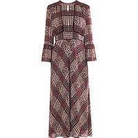 L.K.BennettL.K. Bennett Alys Silk Maxi Dress, Ruby