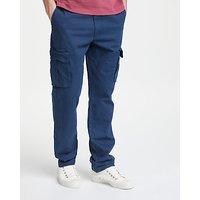 John Lewis Cotton Cargo Trousers, Navy