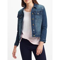 Collection WEEKEND by John Lewis Stretch Denim Jacket, Mid Wash