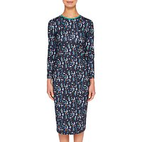 Ted Baker Kielder Print Dress, Navy/Multi