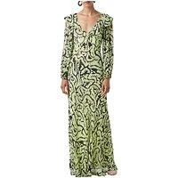 FineryFinery Assam Ferns Maxi Dress, Swirling Ferns