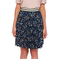Ted Baker Colour By Numbers Motrie Lamp Printed Skirt, Navy/Multi