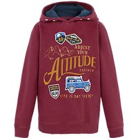 Fat Face Boys Adjust Altitude Hoodie, Red