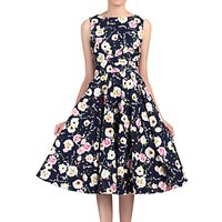 Jolie Moi Floral Print Crossover Dress, Navy/Multi