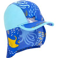 John Lewis Childrens Sea Life Sun Hat, Turquoise