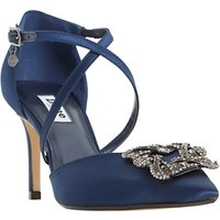 Dune Deeana Cross Strap Embellished Court Shoes