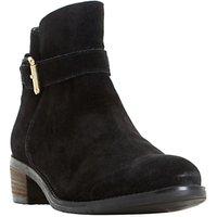 Dune Pheobie Block Heeled Ankle Boots, Black