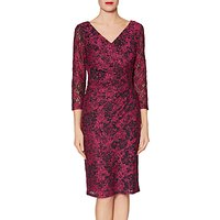 Gina Bacconi Keira Lace Dress, Cerise