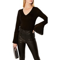 Karen Millen Volume Sleeve Jersey Top, Black