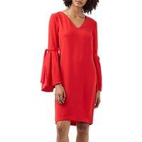 Finery Gloster V-Neck Shift Dress, Poppy Red