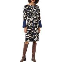 Finery Harriet Abstract Animal Dress, Multi