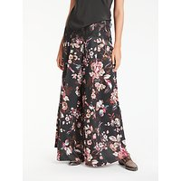 Modern Rarity Wide Leg Archive Floral Print Trousers, Charcoal