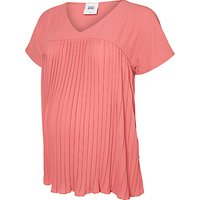 Mamalicious Aneth Pleat Top, Pink