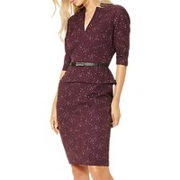Damsel in a dress Abacus Print Dress, Port