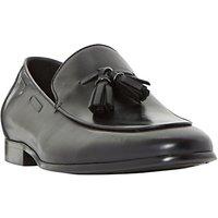Dune Preacher Double Tassel Loafer Shoes, Black