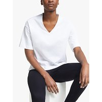 Kin by John Lewis V-Neck Oversized T-Shirt, White