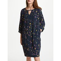 Kin by John Lewis Scatter Print Tie Detail Dress, Multi