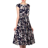 Jolie Moi Floral Print Pleated Tea Dress