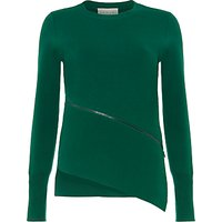 Damsel in a dress Emera Asymmetric Zip Top, Emerald