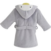 My 1st Years Penguin Fleece Robe, Grey