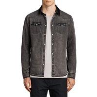 AllSaints Genki Denim Shirt, Grey