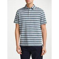 John Lewis Jack Stripe Polo Shirt, Grey