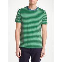 John Lewis Axel Stripe T-Shirt, Green