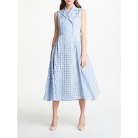 Bruce by Bruce Oldfield Check Sleeveless Dress, Blue