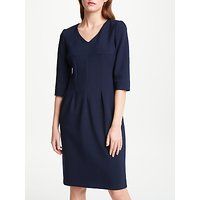 Bruce by Bruce Oldfield V-Neck Pleated Dress, Navy