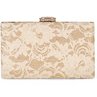 Chesca Lace Detail Clutch Bag, Gold