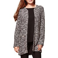 Yumi Zipped Pocket Marl Jacket, Grey