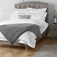 John Lewis & Partners Crisp and Fresh Satin Stitch 200 Thread Count Egyptian Cotton Bedding