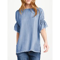 AND/OR Short Sleeve Top, Blue