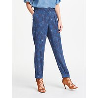AND/OR Floral Patsy Print Trousers, Indigo
