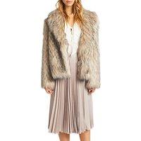Grace & Oliver Tallulah Faux Fur Jacket, Natural