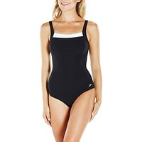 Speedo Contour Renew Swimsuit, Black/White