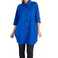 Chesca Stand Collar Raglan Cocoon Coat, Sapphire