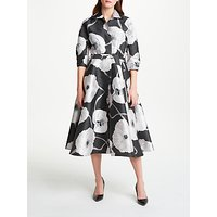 Bruce by Bruce Oldfield Floral Jacquard Dress, Charcoal