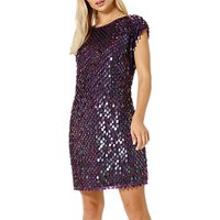 Damsel in a dress Savannah Sequin Dress, Aubergine